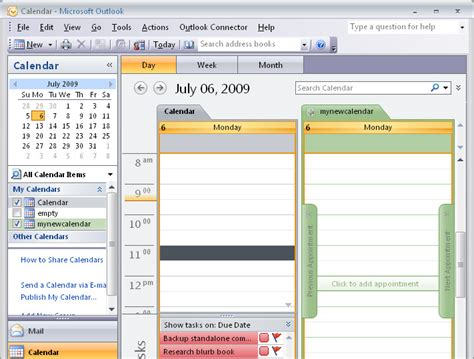 How To Create A New Calendar In Outlook Outlook 2007 Create A New Empty Calendar 171 Projectwoman