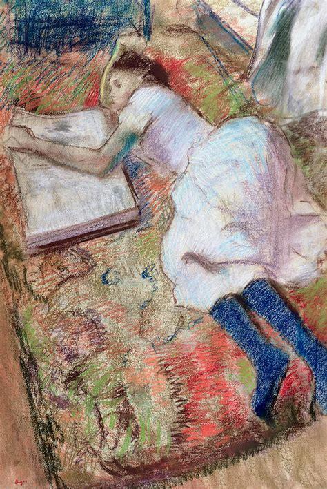 libro degas 1834 1917 art albums reader lying down pastel by edgar degas