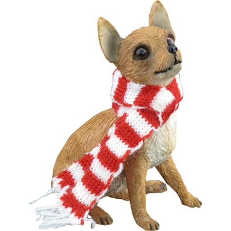 chihuahua sitting christmas ornament tan baxterboo