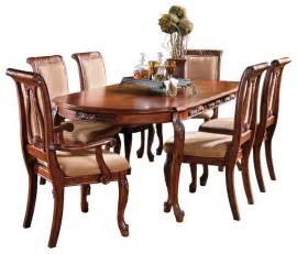 Oval Dining Room Sets Steve Silver Harmony 7 Oval Dining Room Set In Cherry Traditional Dining Sets By