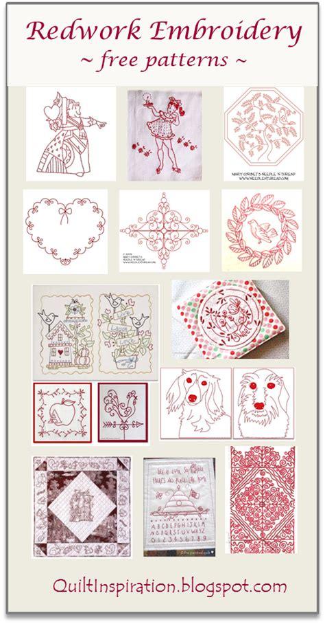 quilt inspiration free pattern day redwork part 1 quilt inspiration free pattern day redwork embroidery