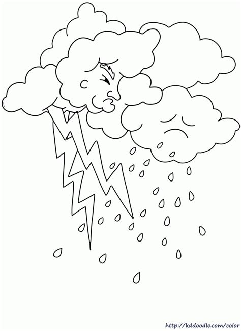 preschool coloring pages rain weather color pages coloring home
