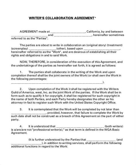 research agreement template collaboration agreement template 28 images