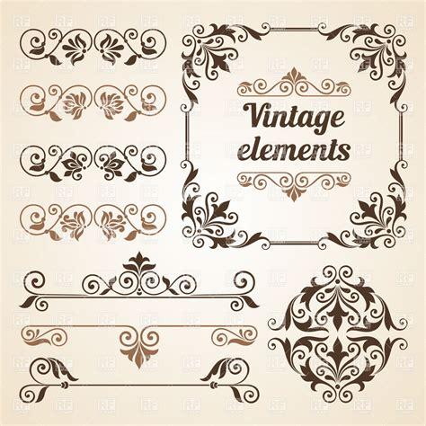 vintage design elements corners vector free download set of vintage vignettes and design elements royalty free