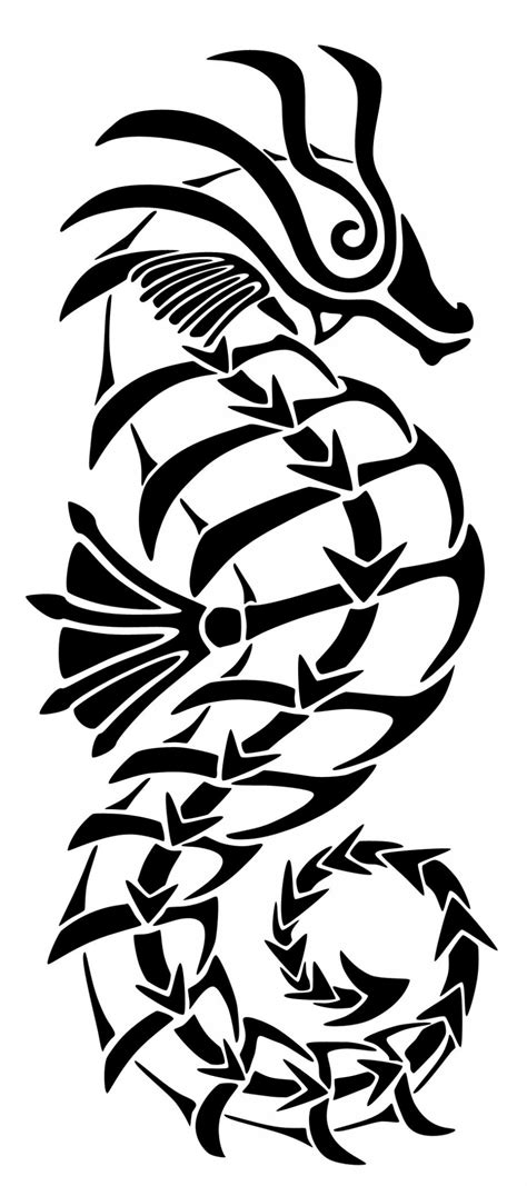 seahorse tribal tattoo tribal seahorse ideas tattoomagz