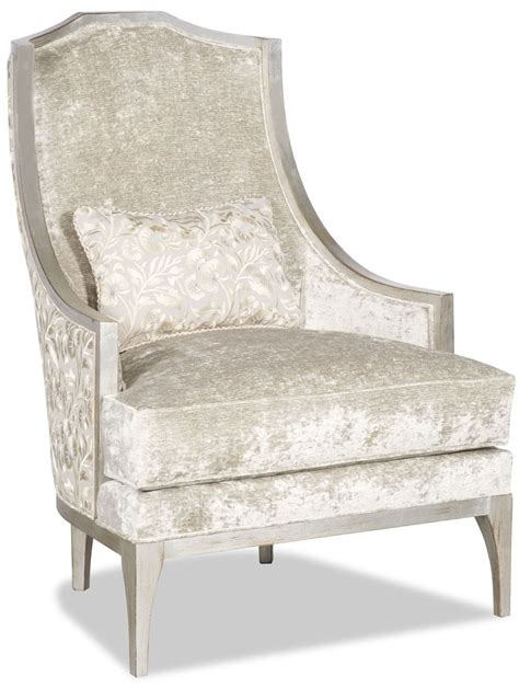 chic armchair armchair covered in a chic dove white fabric
