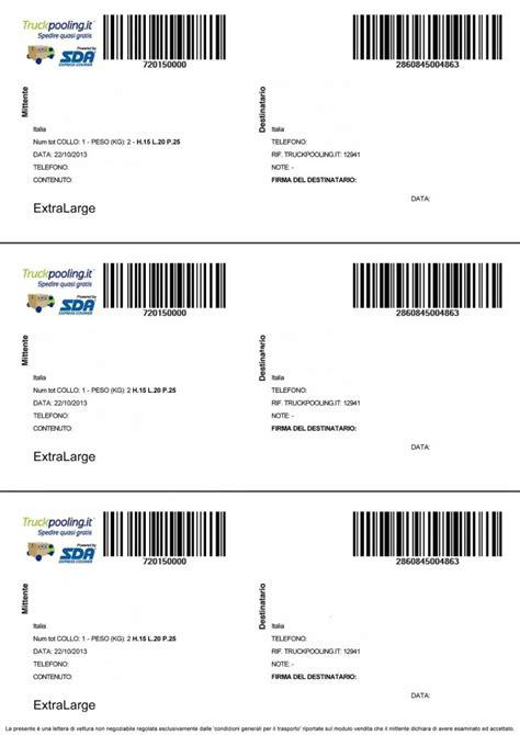 spedizione lettere lettera di vettura sda e regole per spedire