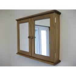 pine two door mirrored bathroom cabinet w72cm