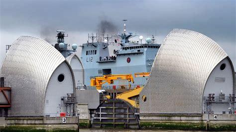thames barrier upgrade guiding hms ocean through thames barrier was a