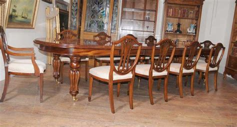 Edwardian Dining Table And Chairs Mahogany Dining Table Chairs Extender Sheraton Chair Set