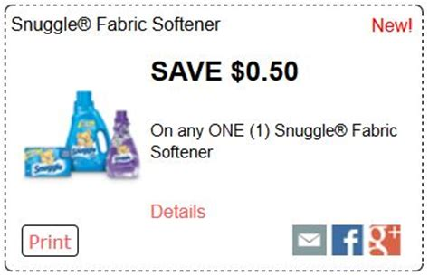 printable fabric softener coupons printable coupons and deals laundry products coupons