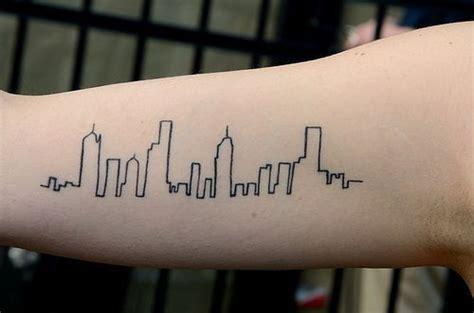 minimalist tattoo chicago simple skyline tattoo www pixshark com images