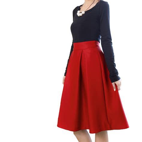 Big Skirt 2016 new winter hepburn style retro skirts high waist pleated skirts big umbrella