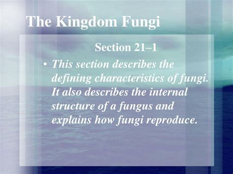 section 21 1 the kingdom fungi ppt the kingdom fungi powerpoint presentation id 242992