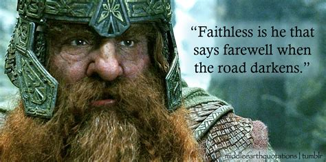 gimli lord   rings quotes quotesgram