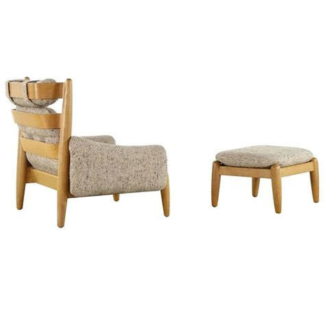 scandinavian chair and ottoman scandinavian easy chair and ottoman in the style of jean