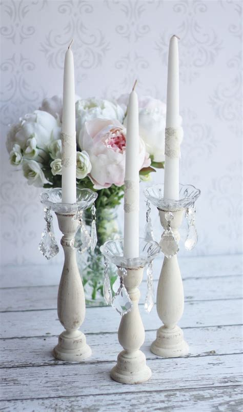 shabby chic candle holders rustic candle holders shabby chic wedding decor item p10331 45 00 via etsy ideas