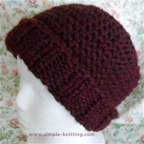 easy knit hat pattern needles easy knit hat pattern