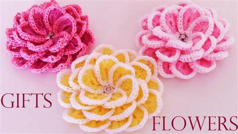 como hacer flores de crochet como tejer f 225 cil y r 225 pido flores en una sola tira make
