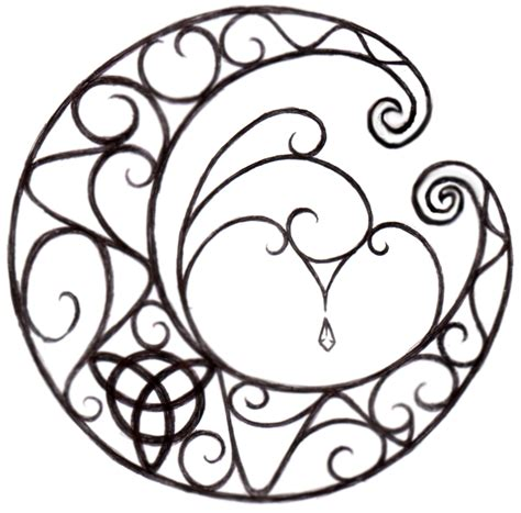 wiccan tattoos designs wiccan moon design by natzs101 on deviantart