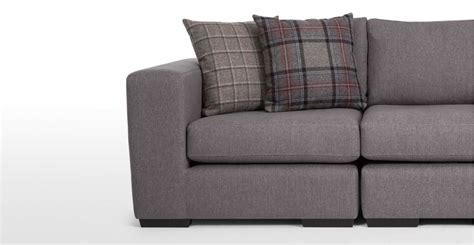misty couch abingdon 4 seater modular sofa in misty grey made com