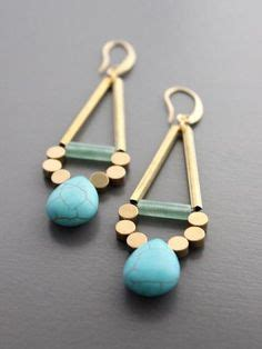 geo stone dangle earrings: charlotte russe | charlotte