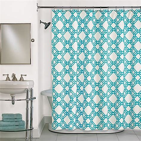 Shower Curtain For Blue Bathroom Buy Blue Shower Curtain In Blue From Bed Bath Beyond