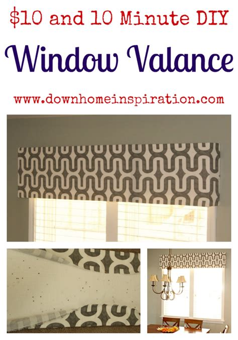 Styrofoam Window Valance 10 And 10 Minute Diy Window Valance Home Inspiration