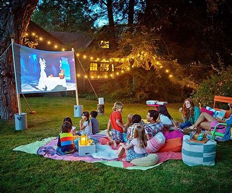 backyard movie screen 7 easy tips for backyard movie theater home design and