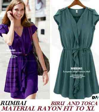 Rissweater Bahan Rajut Fit To Xl dress rumbai idr 80 bahan rayon fit to xl cr honey fashion shop