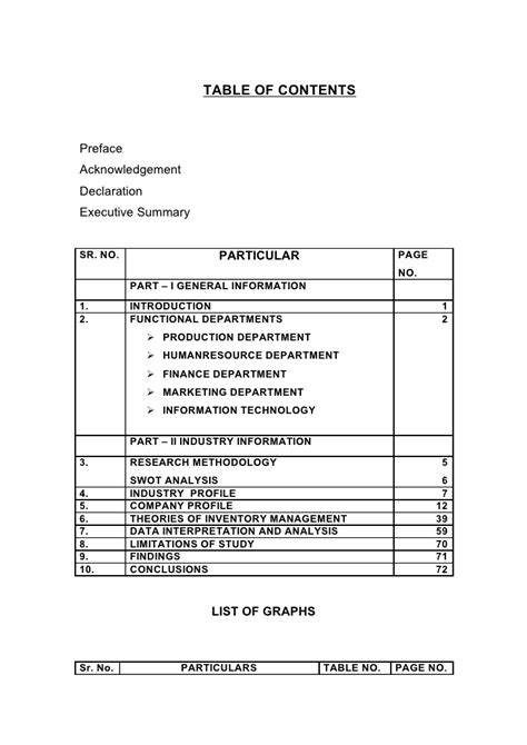 Mba Project Report On Warehouse Management by Project Report On Inventory Mngmt