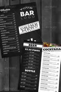 Free Bar Menu Templates by 13 Bar Menu Template Images Bar Menu Templates Free Bar