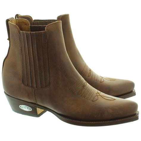 western ankle boots loblan 298 western ankle boots in brown in brown