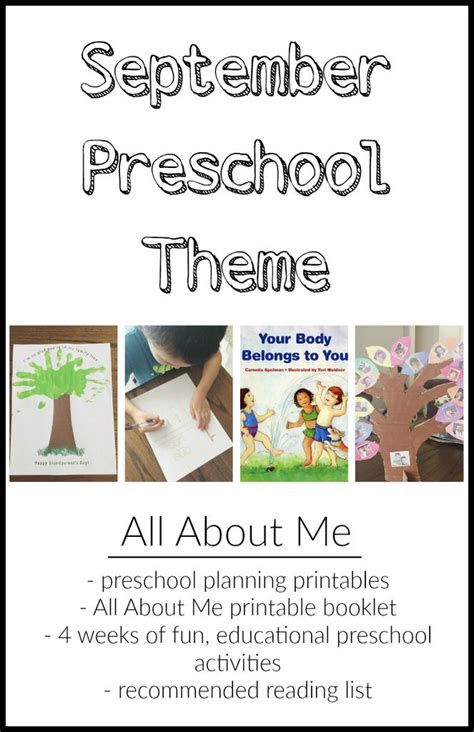 all themes list 116 best images about all about me preschool on pinterest