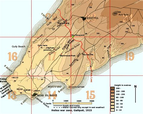 battle of gallipoli map battle of krithia