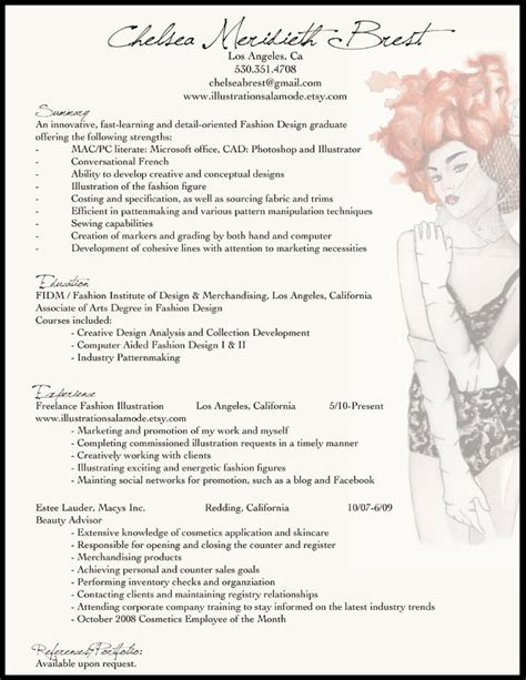 best fashion resume format fashion merchandising resume sle best resume collection