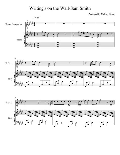 Free Piao Sheets Sam Smith — Writing's on the Wall | Piano