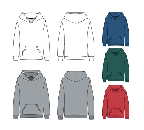 Blank Hoodie Template Download Free Vector Art Stock Graphics Images Hoodie Design Template Free