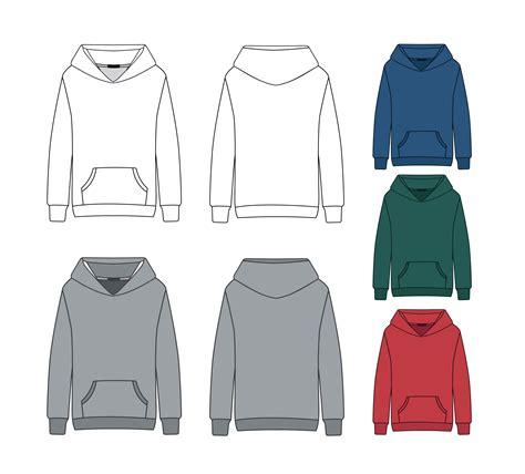 hoodie template blank hoodie template free vector stock