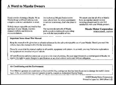 how to download repair manuals 2000 mazda mpv engine control download 2000 mazda mpv owner s manual pdf 360 pages