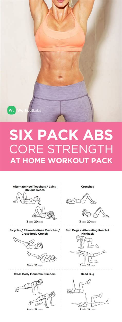 six pack workout plan at home house design ideas