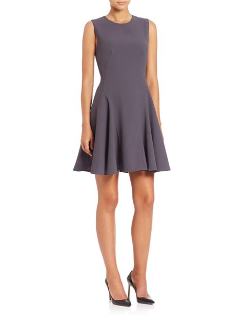 47429 Dress Hodie Avenue lyst saks fifth avenue fit flare dress in gray