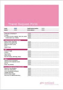 travel request form business templates executive pa