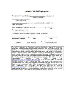 Sample Certification Letter For Proof Billing proof of employment letters verification forms templates amp samples