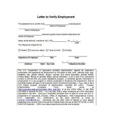 Proof Letter 40 Proof Of Employment Letters Verification Forms Sles