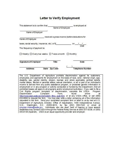 Acknowledgement Letter For Verification sle verification of employment form