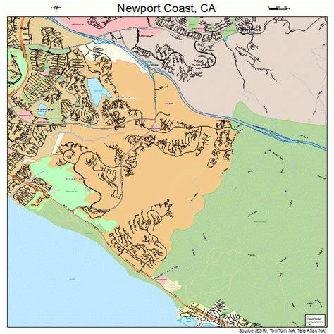 map newport california newport coast california map 0651186