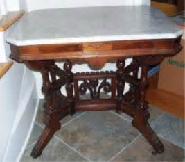 Marble Entry Table Vintage Marble Top Entry Table