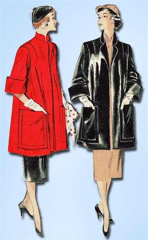 coat pattern ease 1950s vintage butterick sewing pattern 5421 easy misses