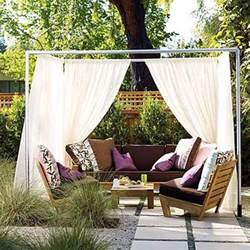 Patio Canopy Ideas by 20 Diy Outdoor Curtains Sunshades And Canopy Designs For